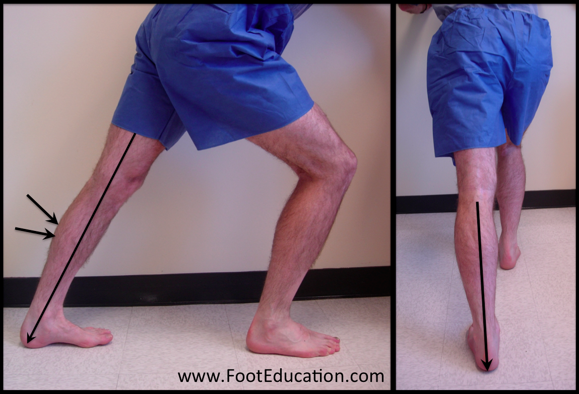Calf stretch with back leg straight