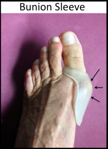 Bunion Sleeve -soft material pads the prominent bunion