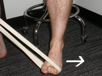Resisted Eversion exercise to strengthen ankle everters