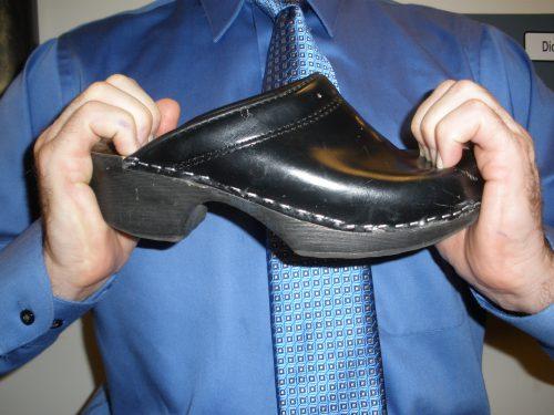 stiff sole comfort shoe