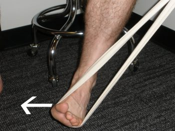 Resisted Inversion exercise to strengthen ankle everters