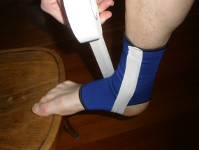 Ankle Taping: Step 2, Position the foot