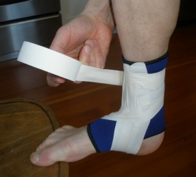 Ankle Taping: Step 3D: Repeat 2-4 times