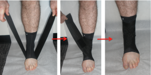 steps to use an ankle lacer (ankle brace)